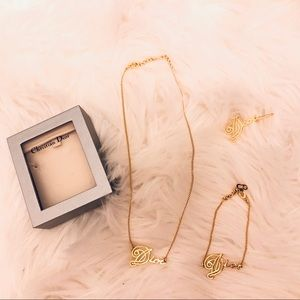 Christian Dior Necklace, Bracelet, and Earring Set